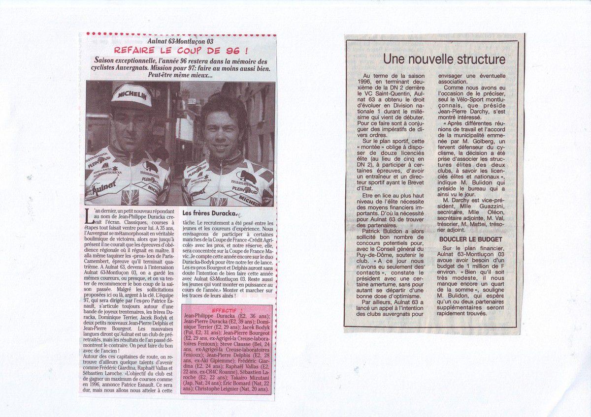 Il y a 20 ans ... Aulnat 63 en DN1