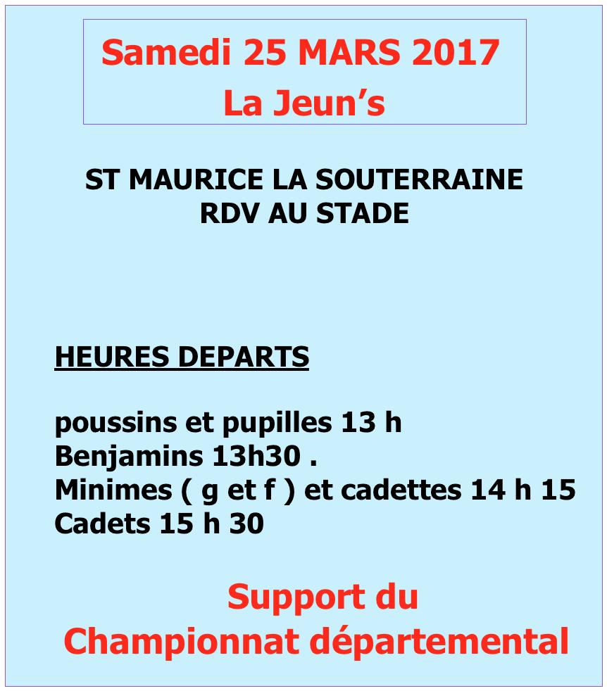 Samedi, La Jeun's à Saint-Maurice-la-Souterraine