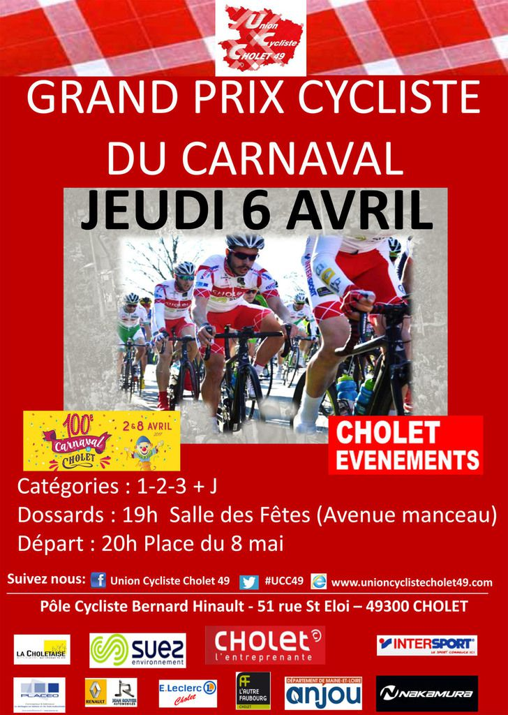 Jeudi, Grand Prix du Carnaval à Cholet