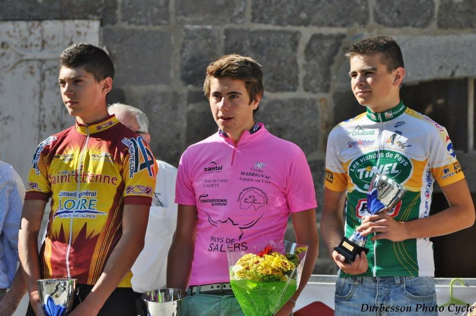 Le podium 2013 , Aurélien Garnier, Julien Durbesson (vainqueur) et Quentin Dance (photo Durbesson)