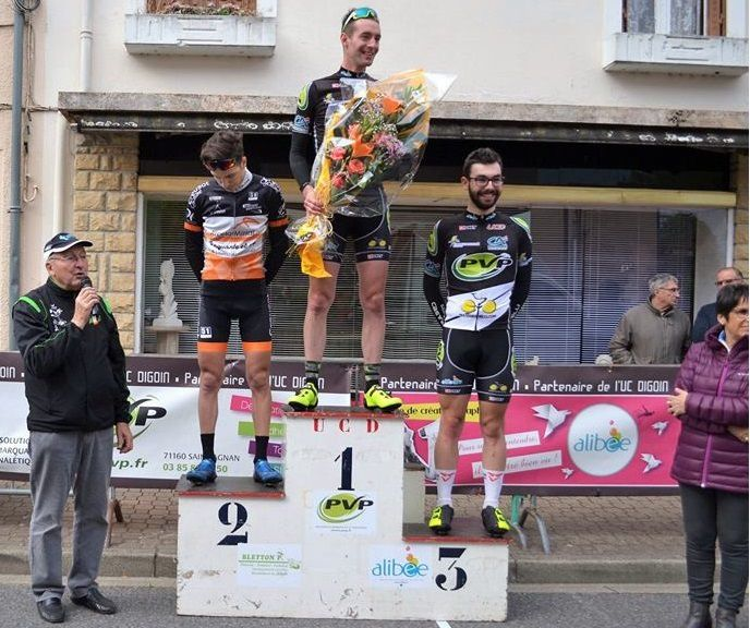 Le podium  (Photo UC Digoin)