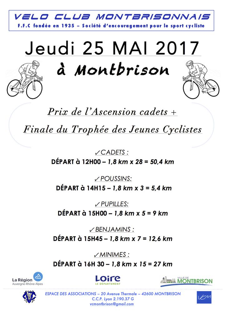 Demain, Grand Prix de l'Ascension à Montbrison