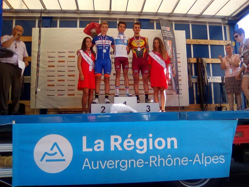 Le podium des juniors