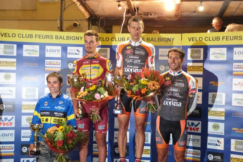Le podium  (Photo VC Feurs Balbigny)