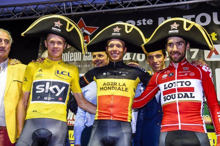 Le podium  (Photo Agence Belga)