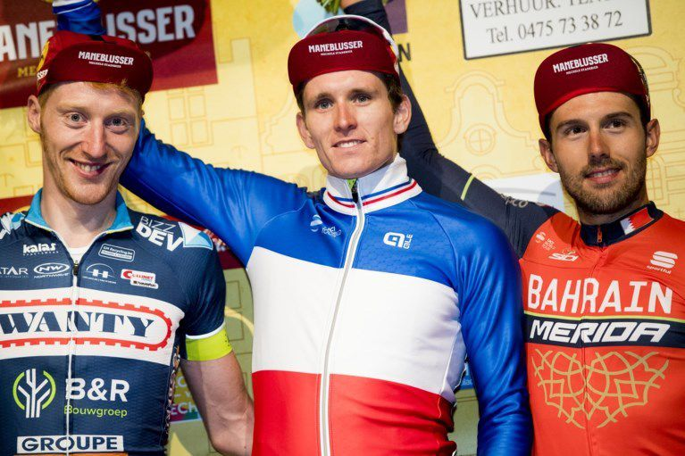 Le podium  (Photo Agence Belga)