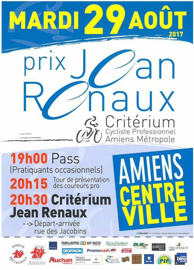 Ce soir, Critérium Jean Renaux à Amiens