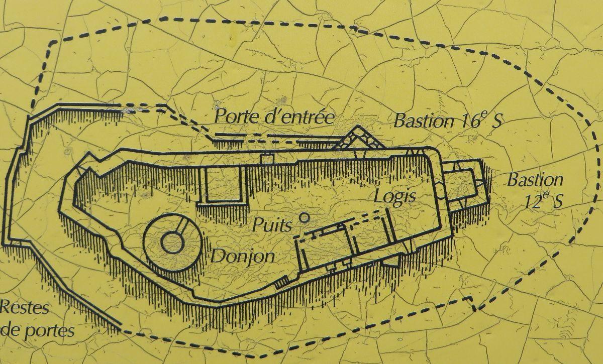 Le plan du château de Frankenbourg