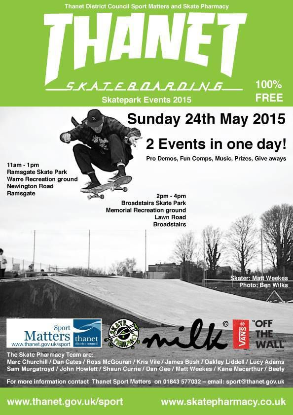 Thanet Skateboarding Skatepark Event 2015