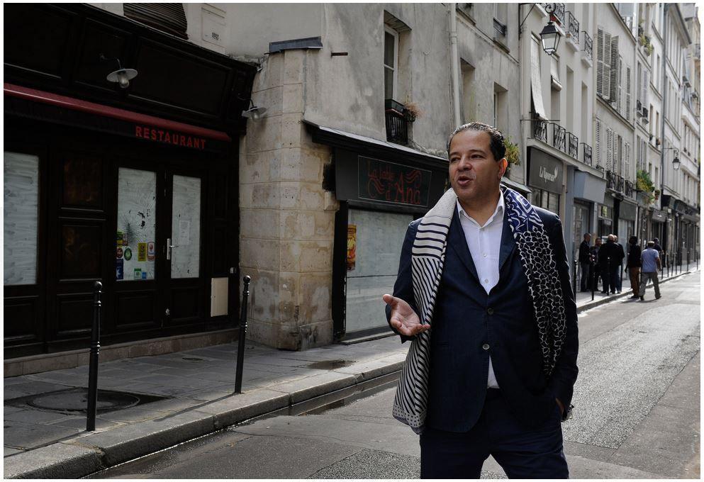Cédric Naudon, entrepreneur de la Jeune Rue, photo de Capucine Granier-Deferre prise sur le New York Times.