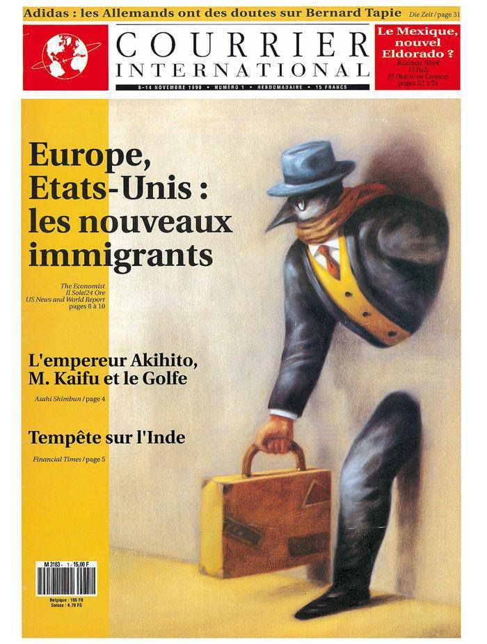 Courrier International, 8 Novembre 1990.