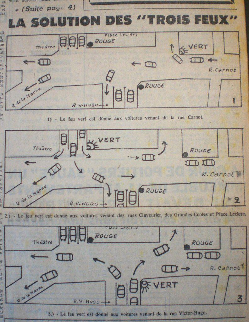 Le joyeux casse-tête de la circulation automobile de la Place d'Armes en 1965