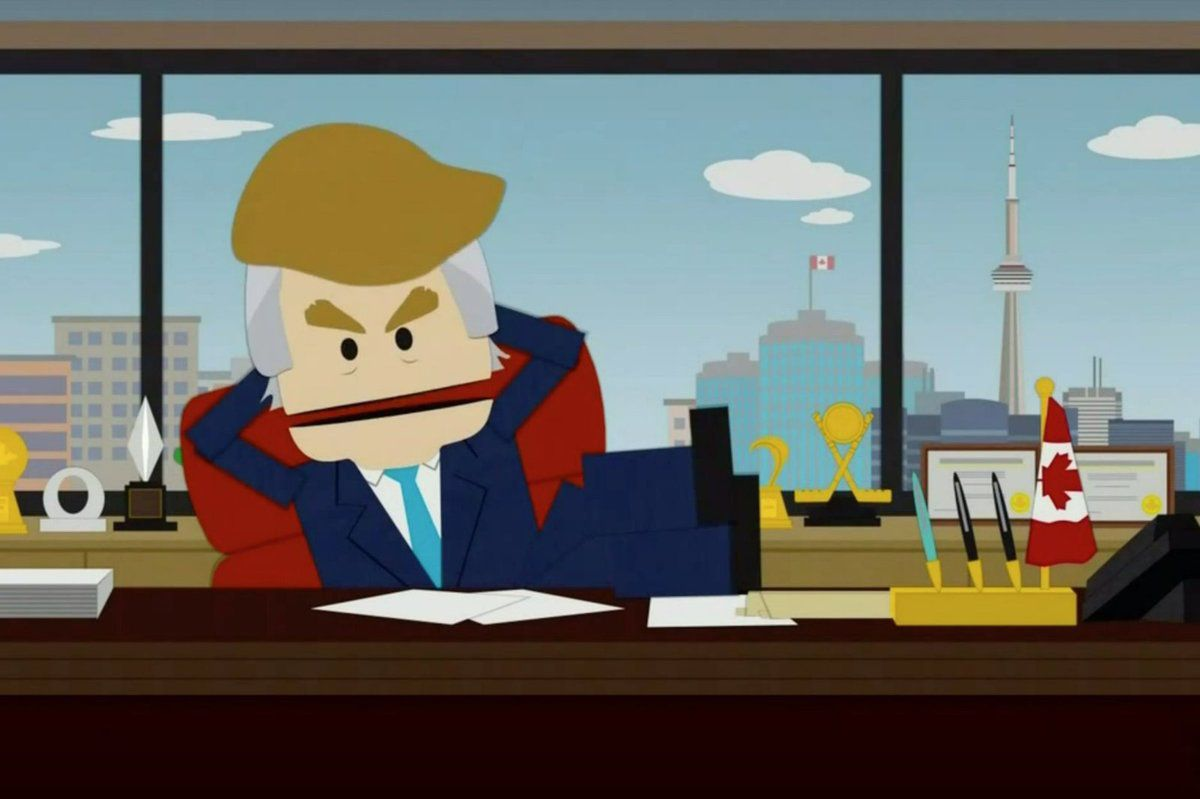 Une version canadienne de Donald Trump dans la 19e saison de South Park.