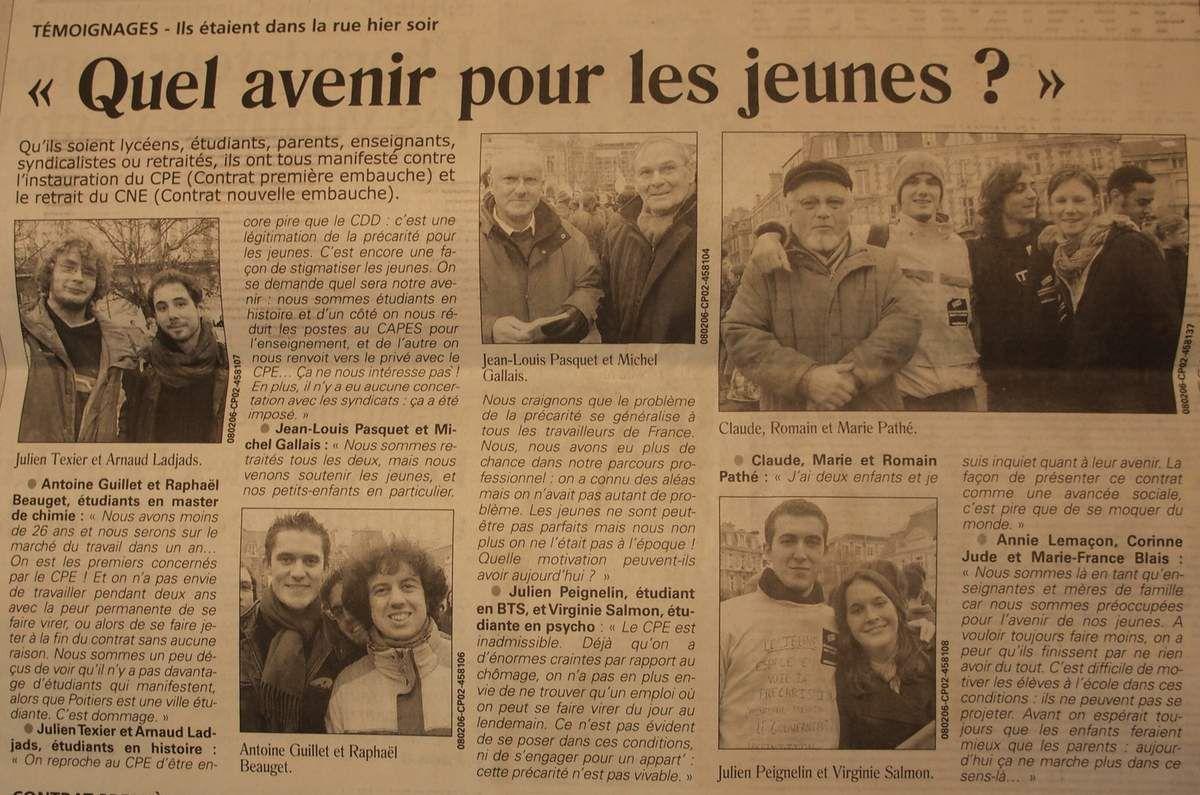7 Février 2006 : le début de la mobilisation anti CPE/CNE