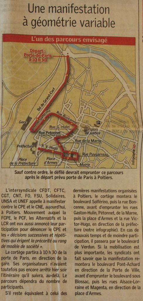 Vendredi 17 Mars 2006 : l'IUT bascule à son tour dans le blocus