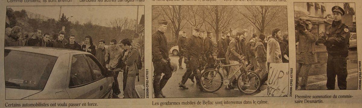 Mercredi 22 Mars 2006 : Poitiers, ville bloquée...le temps d'une matinée