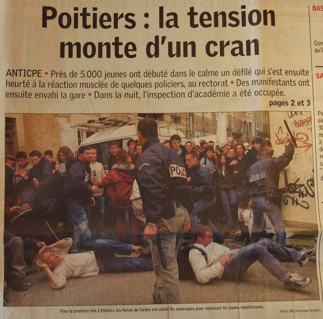 Jeudi 23 Mars 2006 : pluie d'actions et de coups à Poitiers