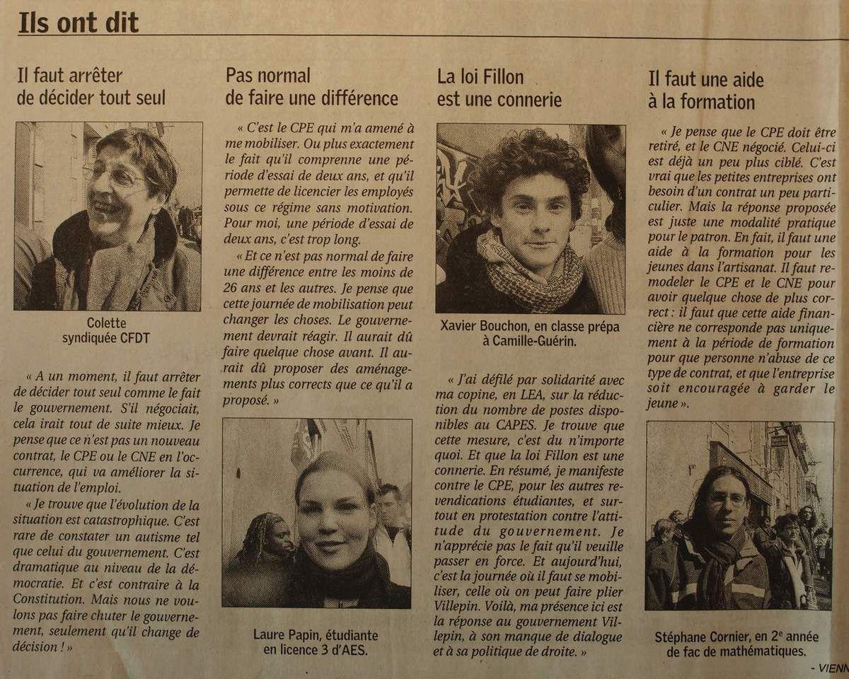 Mardi 28 Mars 2006 : une marée humaine historique à Poitiers contre le CPE