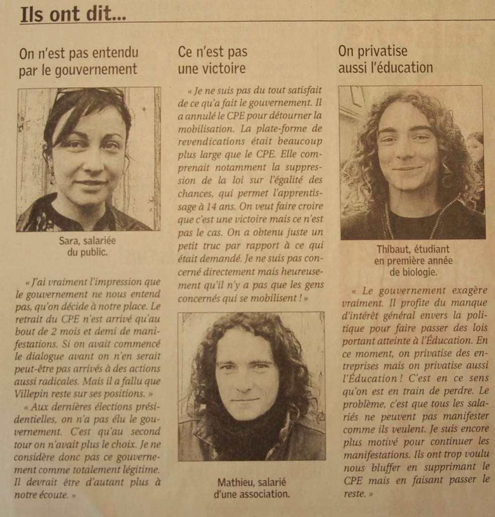 Mardi 11 Avril 2006 : la chute du blocus universitaire de Poitiers