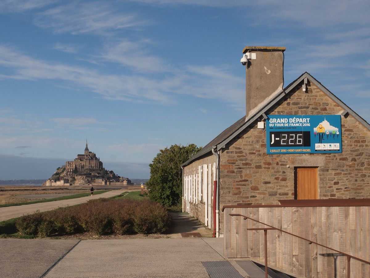 Mont-Saint-Michel : en attendant le Tour de France...