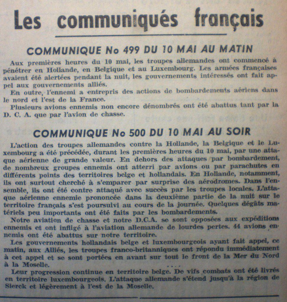 10 Mai 1940 : les troupes nazies lancent l'assaut à l'ouest