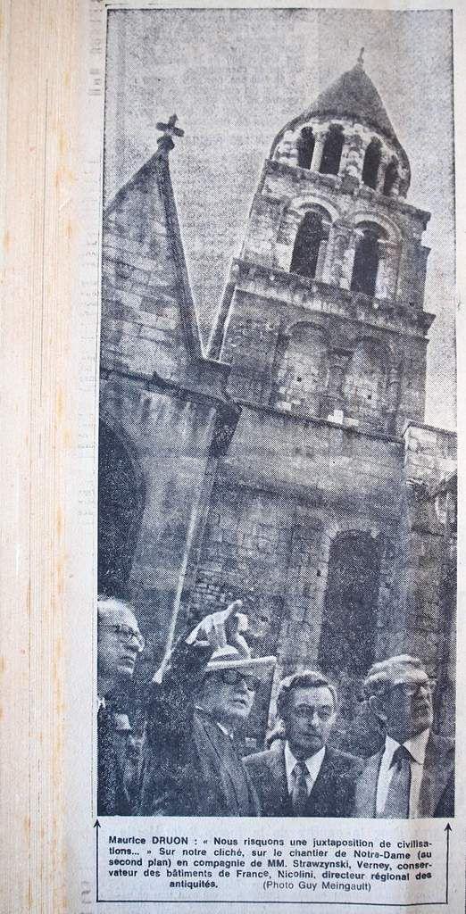 Eté 1973 : Maurice Druon , un ministre en visite à Poitiers