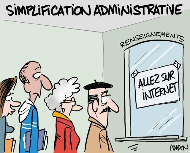 Simplifications administratives humour