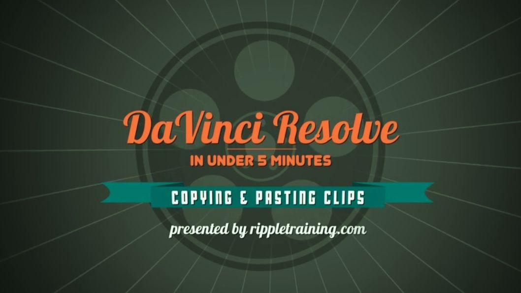 Tutorial DAVINCI RESOLVE 11 : COPIER COLLER un CLIP