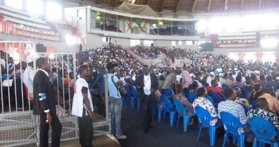 7e convention du FPI au Palais des Sports de Treichville. Image d'archives.