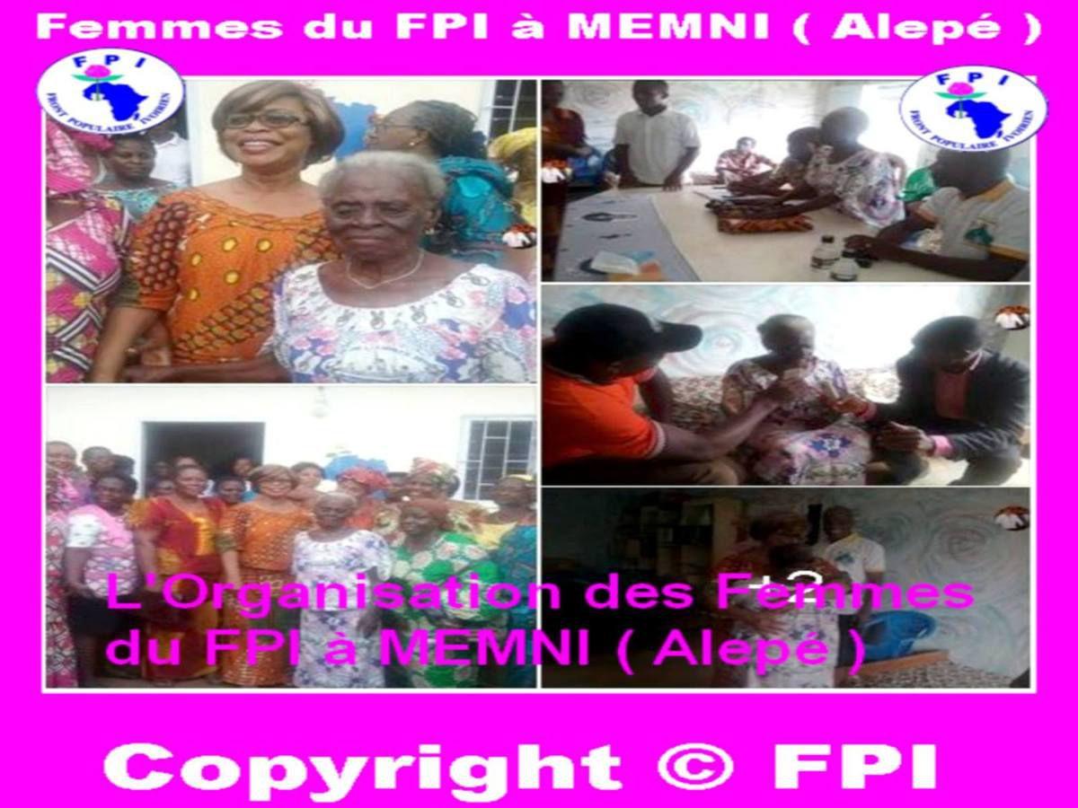 L'Organisation des Femmes du FPI à MEMNI ( Alepé )