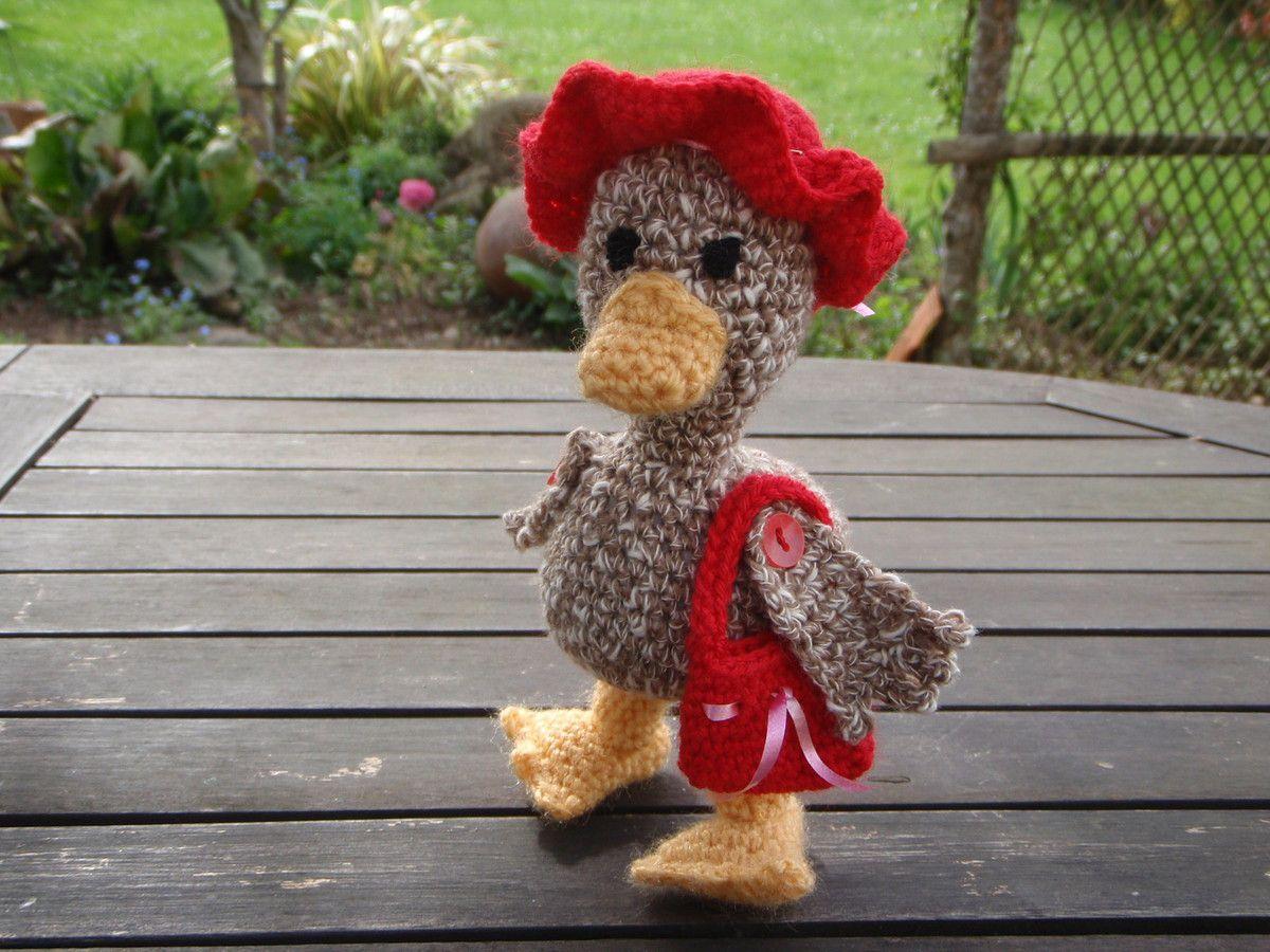 Canard, amigurumi au crochet