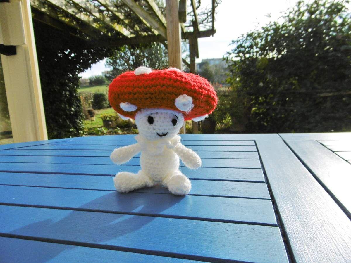 Champignon,Amigurumi au crochet