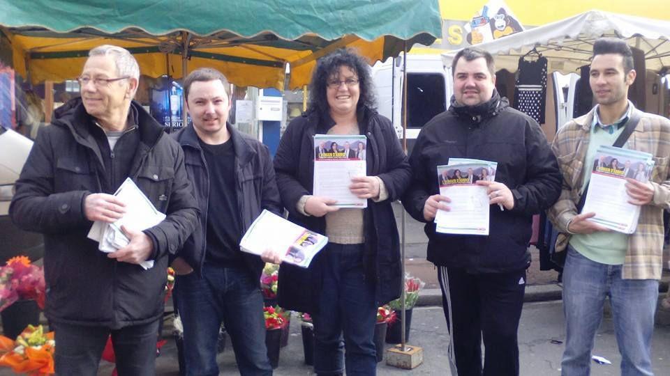 Elections départementales : les candidats du canton d'Hénin-Beaumont 1 étaient sur le marché d'Hénin-Beaumont