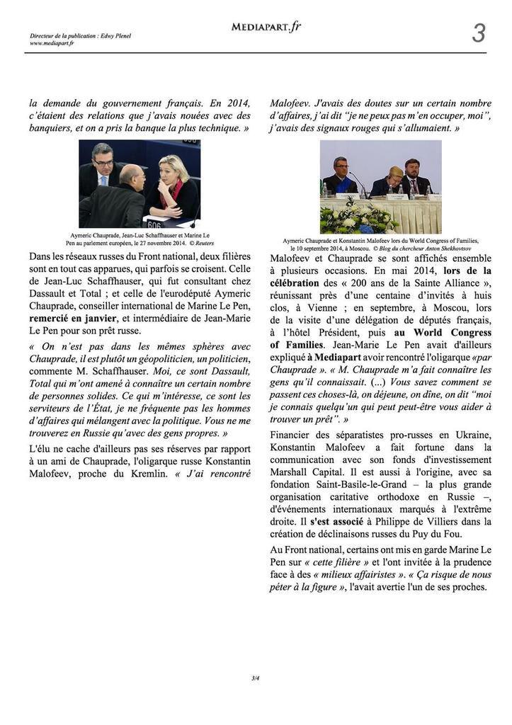 Le FN a obtenu ses millions russes, une enquête parlementaire est ouverte