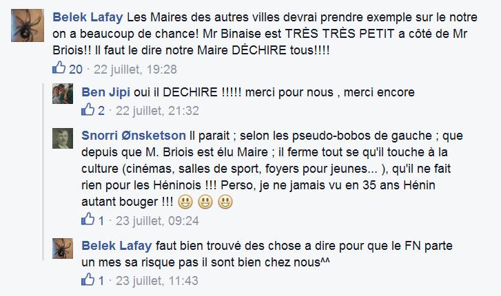 Hénin-Beaumont la plage : la page facebook de la ville d'Hénin-Beaumont privatisée par le FN