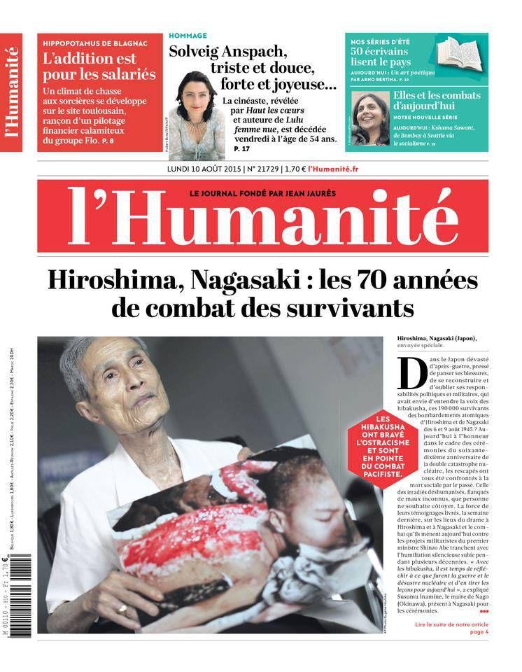 A la une de l'Humanité (10-08-15)
