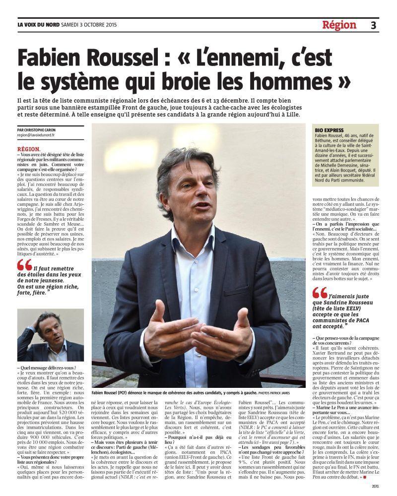 """Fabien Roussel : """"L'ennemi, c'est le système qui broie les hommes"""""""