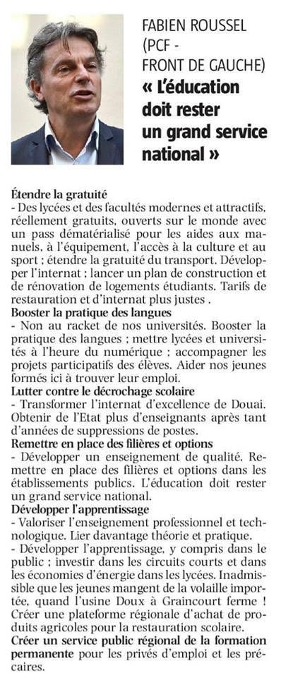 Education : les propositions de Fabien Roussel