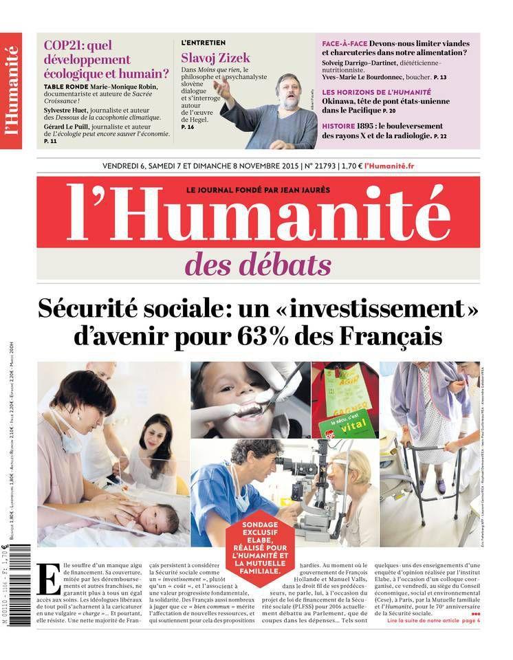 A la une de l'Humanité (06-11-15)