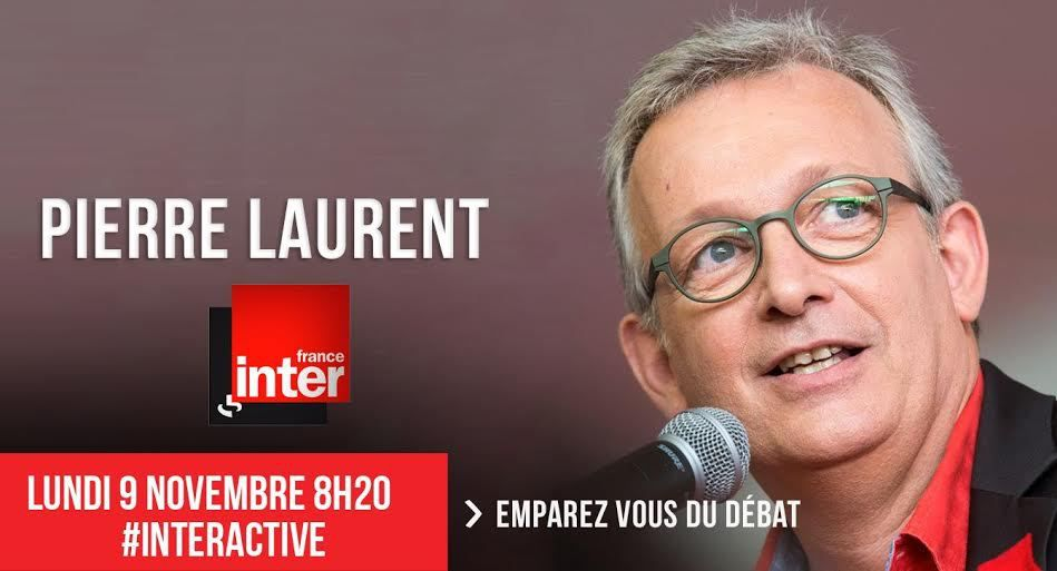 Pierre Laurent invité d'Inter Activ demain matin sur France Inter