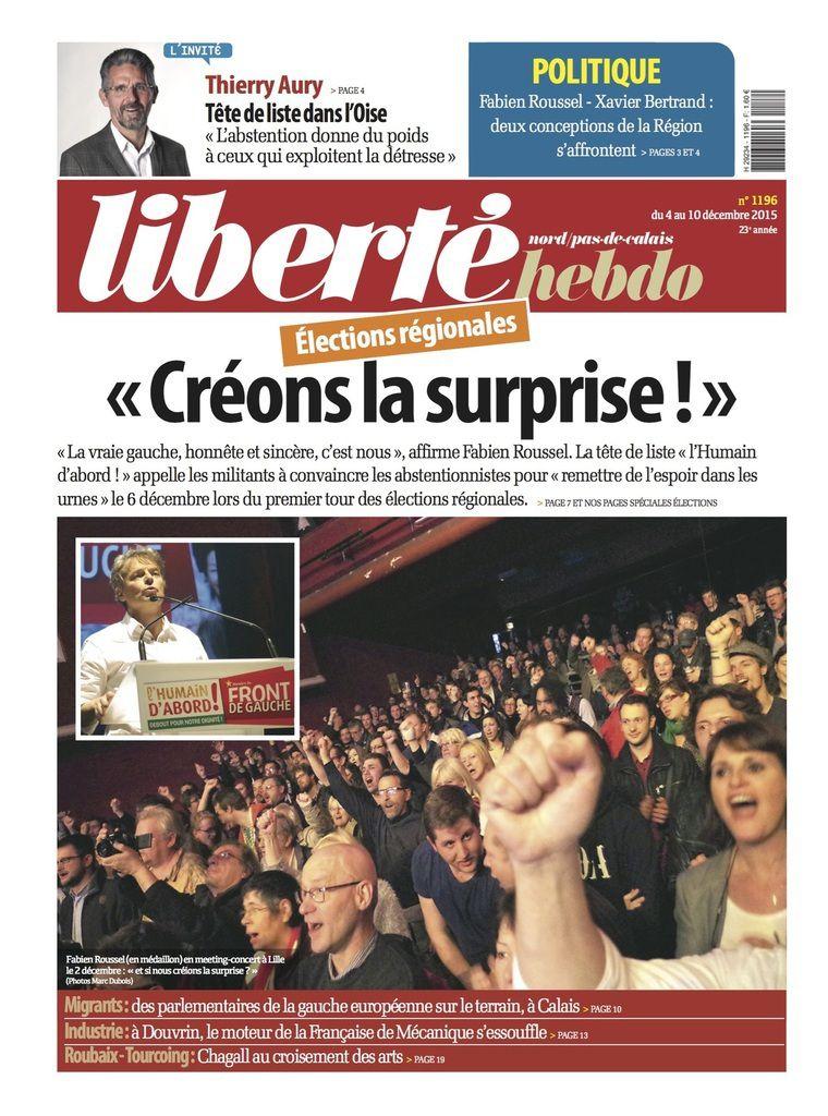 A la une de Liberté Hebdo n°1196