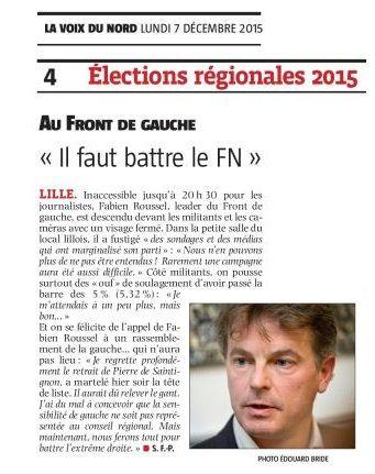 """Au Front de Gauche : """"Il faut battre le FN"""""""