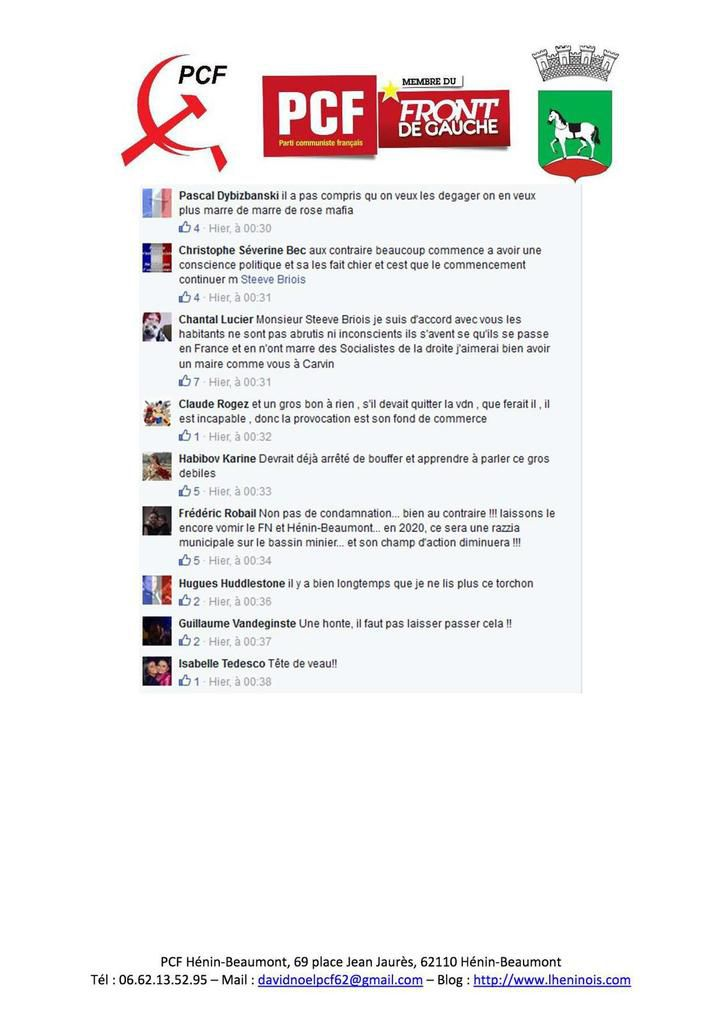 Des insultes inacceptables !