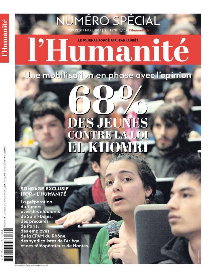 A la une de l'Humanité (09-03-16)