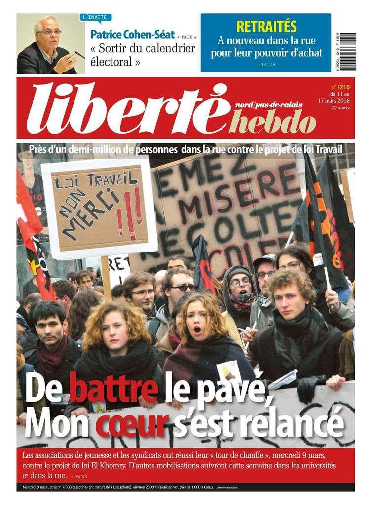 A la une de Liberté Hebdo n°1210