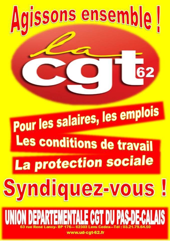 Rejoignez la CGT : une nouvelle affiche de syndicalisation de la CGT 62