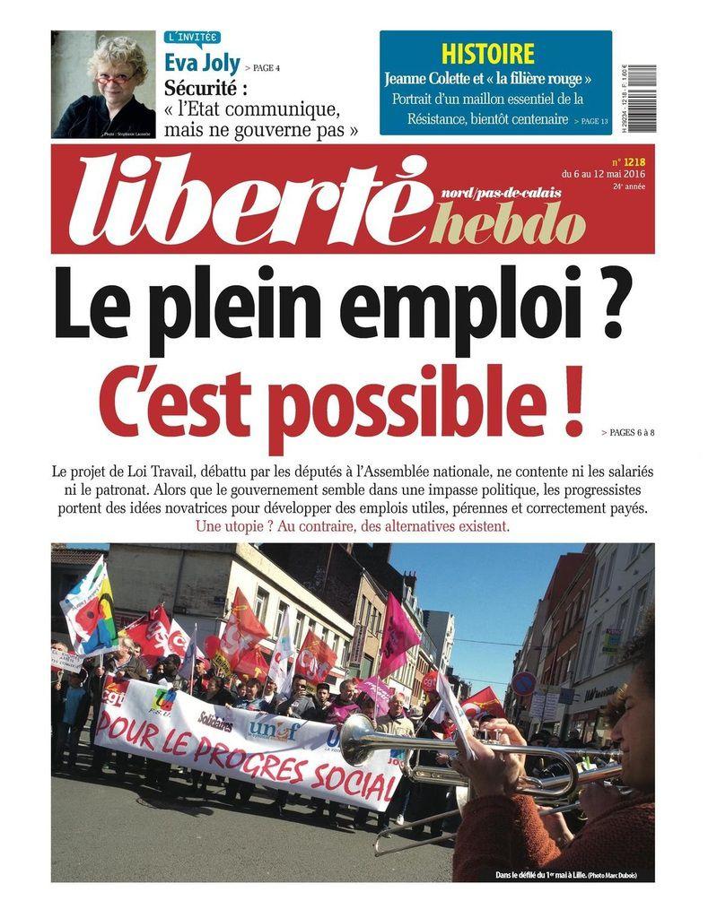 A la une de Liberté Hebdo n°1218