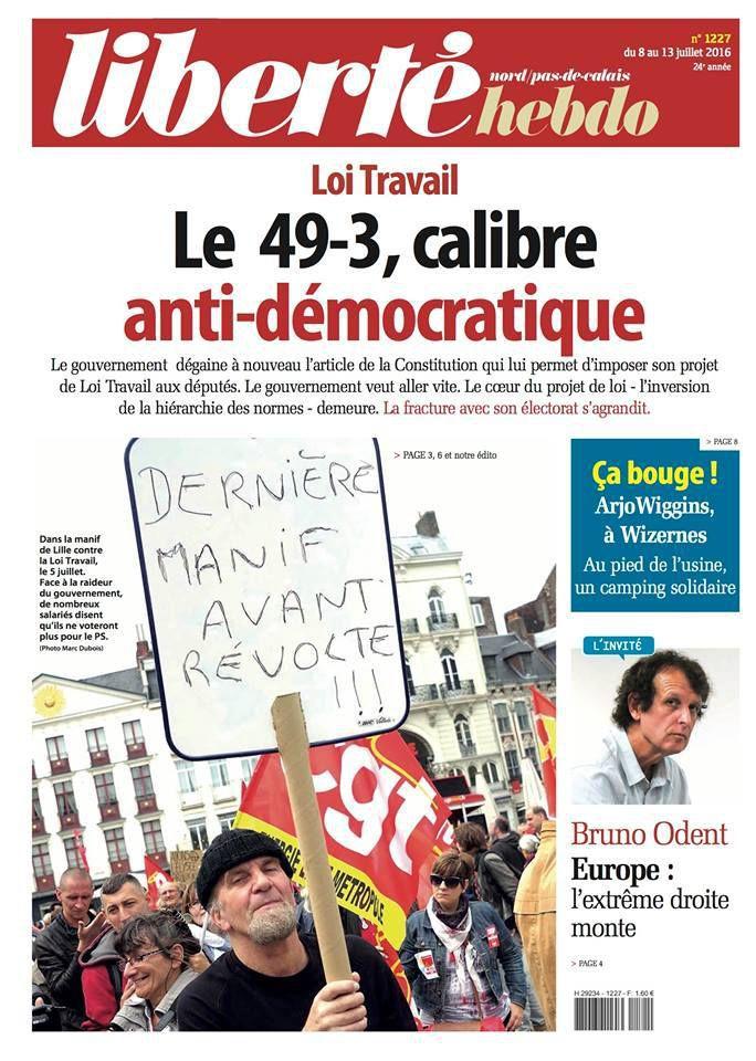 A la une de Liberté Hebdo n°1227