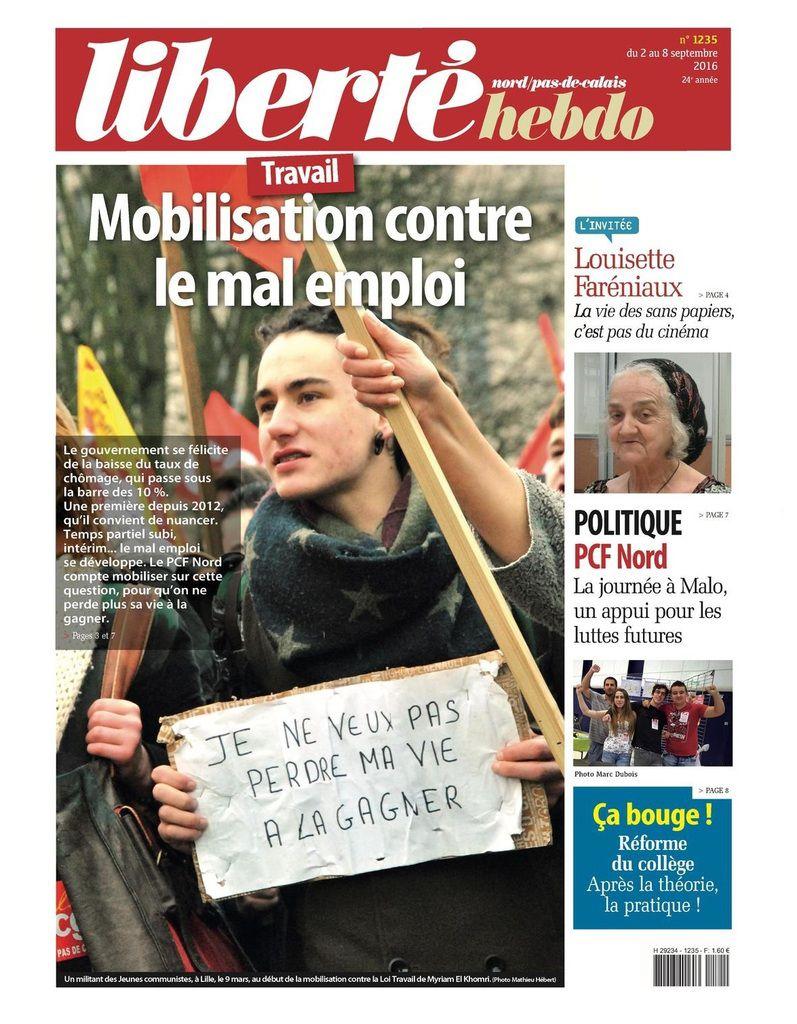 A la une de Liberté Hebdo n°1235