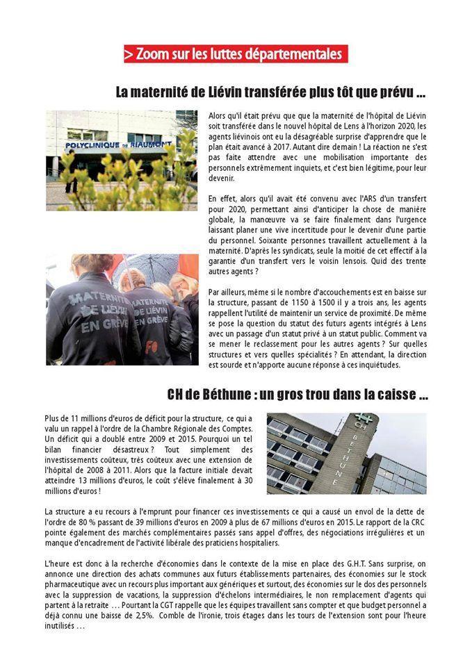 Retrouvez Globule Rouge 62 d'octobre 2016, le bulletin santé des communistes du Pas-de-Calais